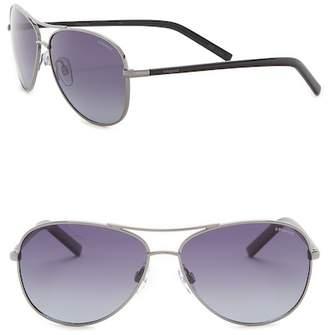 Polaroid EYEWEAR 58mm Aviator Sunglasses