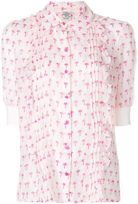 Baum und Pferdgarten palm tree print shirt
