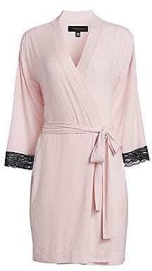 Saks Fifth Avenue Women's COLLECTION Lace-Trimmed Robe