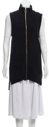 Rachel Zoe Rib Knit Zip-Up Vest