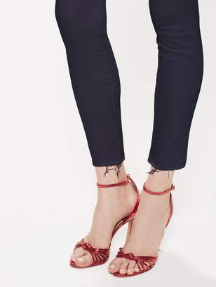 Mother High Waisted Looker Ankle Fray - Pretty Just Strolled In The City Midnight