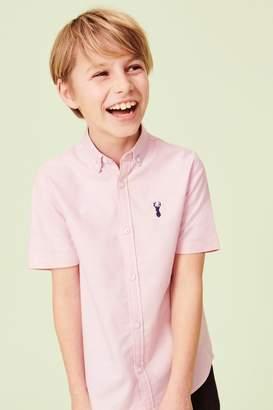 Next Boys Pink Short Sleeve Oxford Shirt (3-16yrs) - Pink