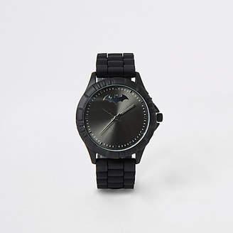 River Island Boys black rubber strap Batman watch