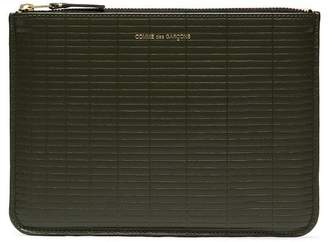 Comme des Garcons army green Brick leather wallet