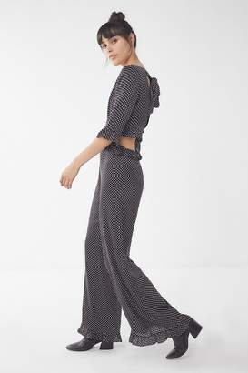 Lucca Couture Polka Dot Ruffle Jumpsuit
