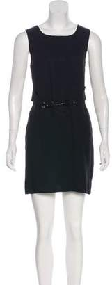 Malo Belt-Accented A-Line Dress