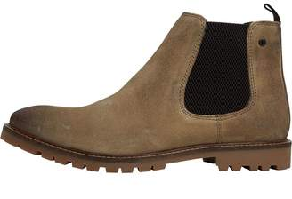 Base London Mens Turret Chelsea Boots Taupe Burnish