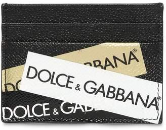Dolce & Gabbana Logo Tape Leather Card Holder