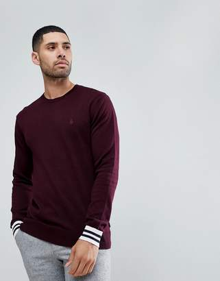 French Connection Crew Neck Knitted Jumper with Contrast Cuff