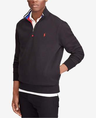 Polo Ralph Lauren Men Double-Knit Mesh Half-Zip Pullover