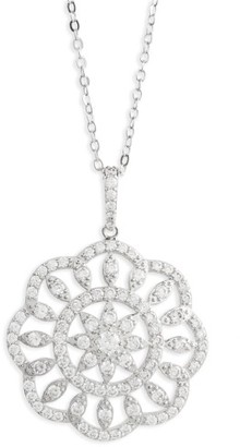 Women's Nina Openwork Sunburst Pendant Necklace $85 thestylecure.com