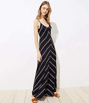 LOFT Petite Chevron Strappy Maxi Dress