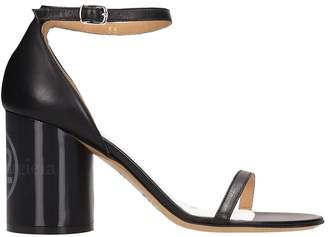 Maison Margiela Black Leather Sandals
