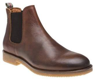 Sole New Mens Tan Seaton Leather Boots Chelsea Lace Up