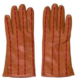 Carolina Amato Cashmere-Lined Lambskin Gloves