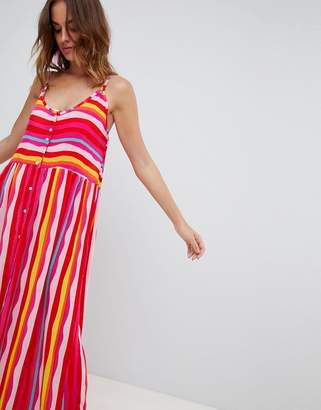Vero Moda Block Stripe Beach Maxi Dress