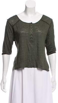 Apiece Apart Scoop Neck Linen T-Shirt w/ Tags
