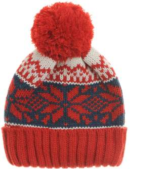 05f86ad19e4 Nordic WITHMOONS Knitted Fairs Isle Bobble Pom Beanie Hat CR5169