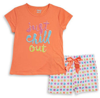 Sleep On It Girls Two-Piece Just Chill Out Pajama Set $28 thestylecure.com