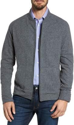 Nordstrom Wool Blend Fleece Bomber Jacket