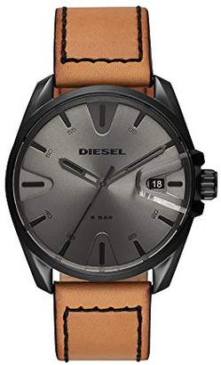 Diesel Men's 'MS9' Quartz Stainless Steel and Leather Casual Watch