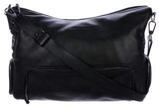 Giorgio Armani Leather Weekender Bag