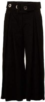 Drome belted cropped trousers