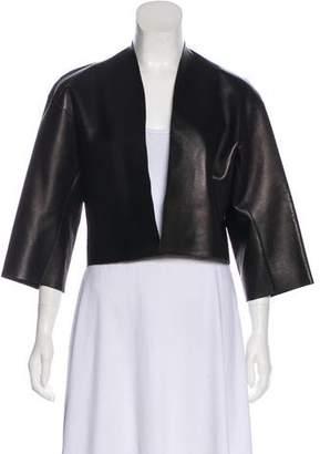 Celine Leather Cropped Jacket