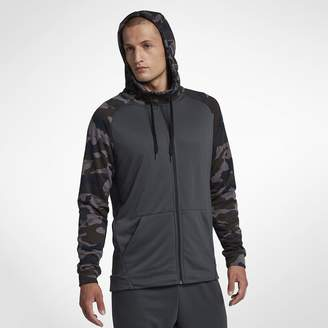 Nike Dri-FIT Men's Full-Zip Camo Training Hoodie