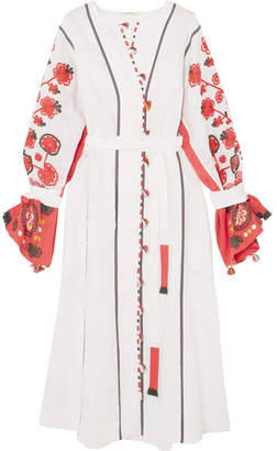 Eres + Vita Kin Sicily Embroidered Linen Dress - White