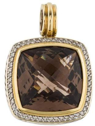David Yurman 18K Smoky Quartz & Diamond Albion Enhancer Pendant
