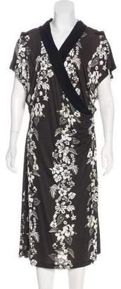 Jean Paul Gaultier Floral Print Midi Dress