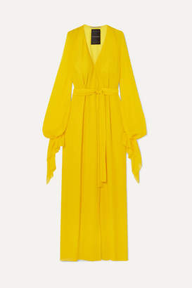 Roland Mouret Swanson Silk-crepe Gown - Yellow