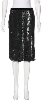Blumarine Sequin Knee-Length Skirt w/ Tags