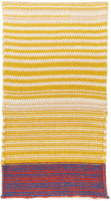 Calvin Klein Yellow Wool Scarf