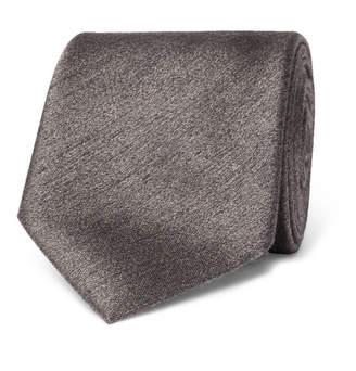 Brioni 8cm Mélange Silk Tie