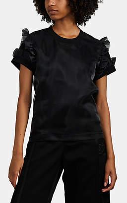 Noir Kei Ninomiya Women's Organza-Layered T-Shirt - Black