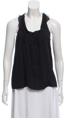 Rochas Silk & Linen Sleeveless Top