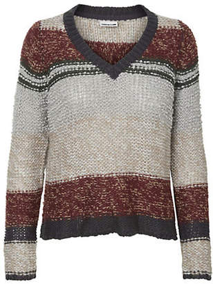 Noisy May V-Neck Knitted Sweater