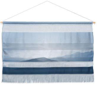 "Deny Designs Ingrid Beddoes Hazy Morning Blues Wall Hanging Landscape, 47""x34"""
