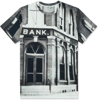 Carven Black/White Bank Jersey T-Shirt