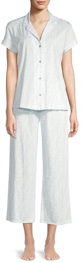 Women's Printed Cotton Jersey Pajama Set