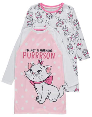 CAT George Disney The Aristocats Marie Nightdresses 2 Pack