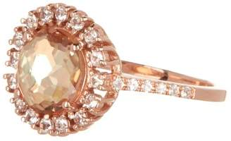 Suzanne Kalan 14K Rose Gold Champagne Topaz & White Sapphire Ring - Size 6.5