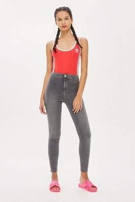 Topshop Womens Grey Joni Jeans