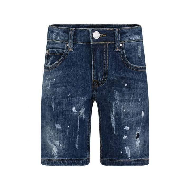 Frankie MorelloBoys Blue Denim Bermuda Shorts