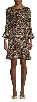 MICHAEL Michael Kors Animal-Print Bell-Sleeve Dress