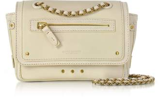 Jerome Dreyfuss Benji Cream Leather and Suede Mini Crossbody Bag