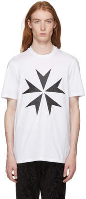 Neil Barrett White Large Military Star 2 T-Shirt
