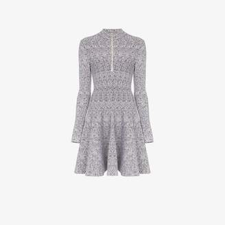 Alaia spider-knit skater dress